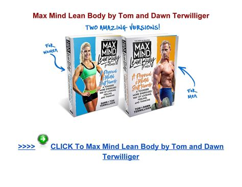 Terwilligers Max Mind Lean Body Review - Continuumbooks.com.